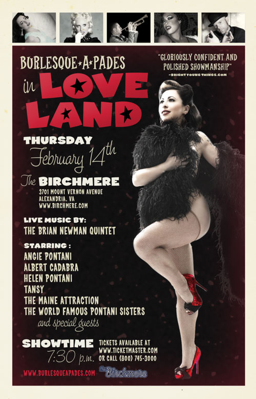 burlesque-a-pades Valentine's Day Show